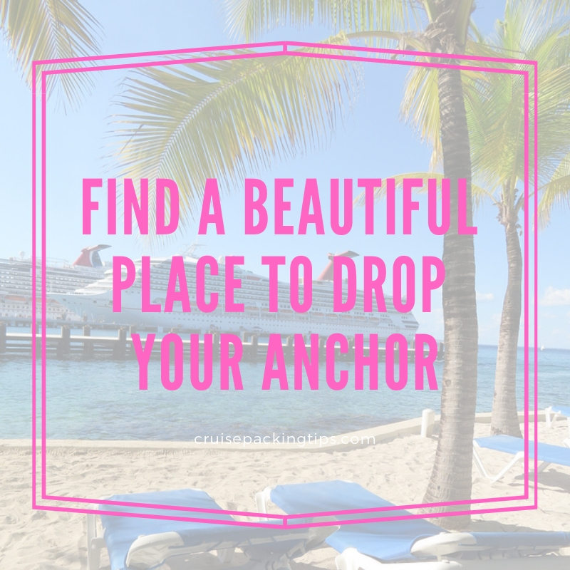 Find a beautiful place to drop your anchor - cruise quotes