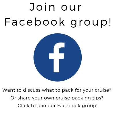 cruise packing tips facebook group