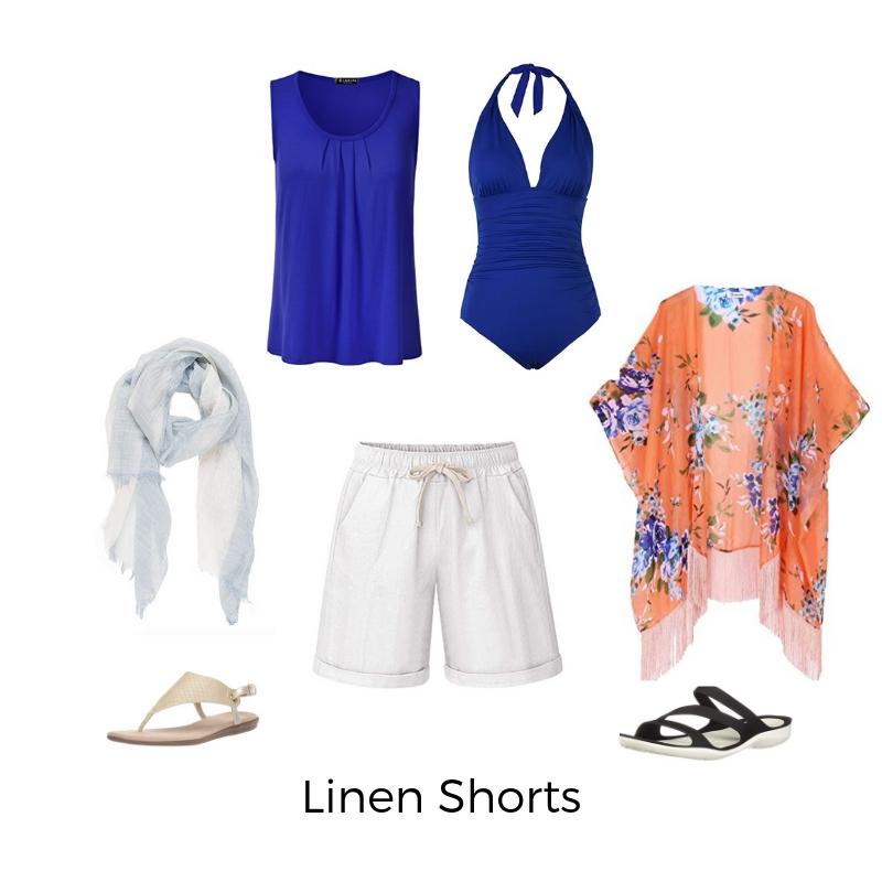 Linen Shorts - plus size cruise fashion